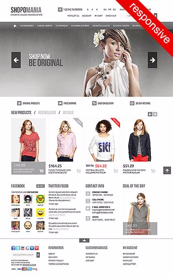 Picture of Shopomania Responsive Theme Version 3.30