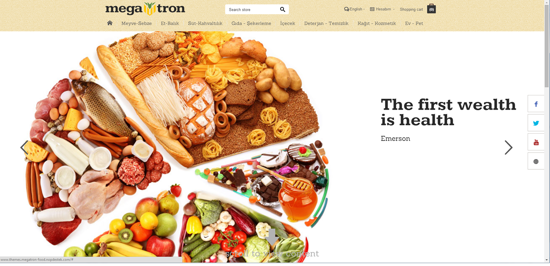 Picture of Megatron Food Responsive NopCommerce Theme