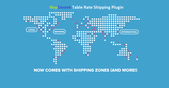 Picture of NopDestek Table Rate Shipping Plugin